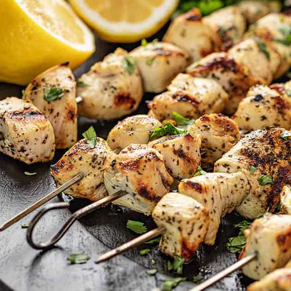 Chicken kebabs - honey chilli garlic 7